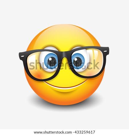 cute smiling emoticon wearing