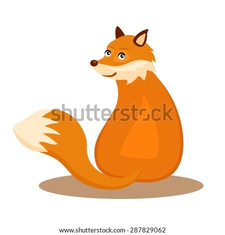 Sitting fox illustration - photo#11
