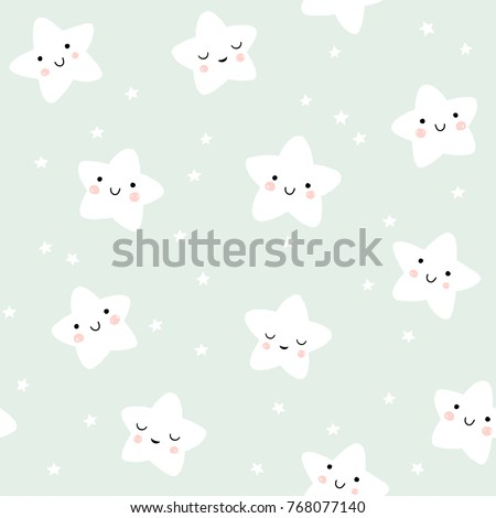 cute smiling stars pattern