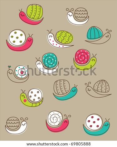 cute snail wallpaper
