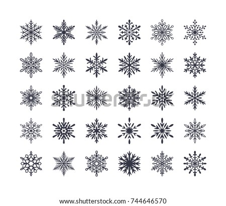 cute snowflakes collection