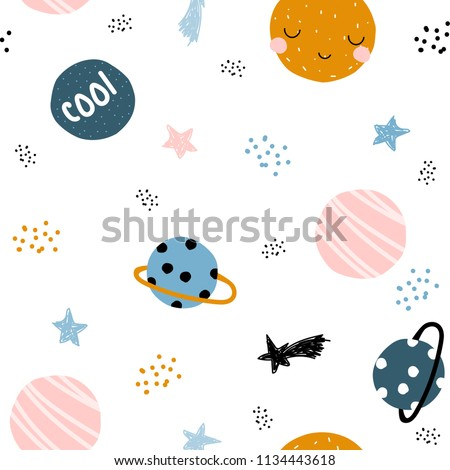 cute space seamless pattern