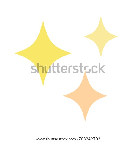 cute sparkle stars in yellow