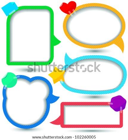 Cute Speech bubbles templates set