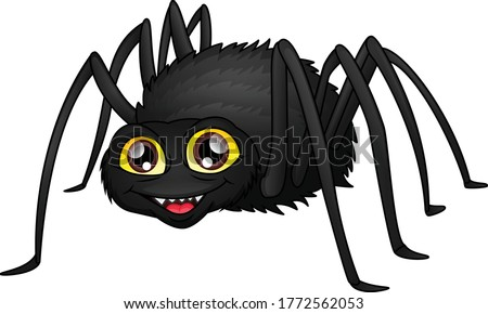 cute spider cartoon on a white background ストックフォト ©