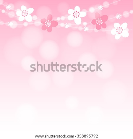 cute spring card with cherry