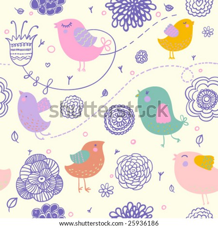 stock vector : Cute spring floral pattern for nice backgrounds in vector