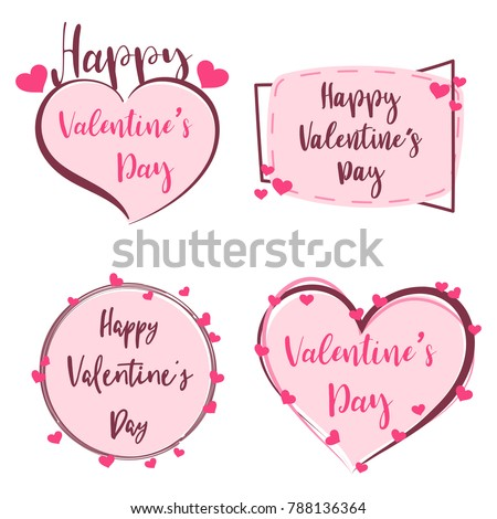 Valentine\'s Day Labels Collection - Download Free Vector Art ...