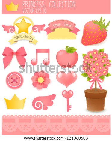 Cute Sticker Set  Vector File EPS10