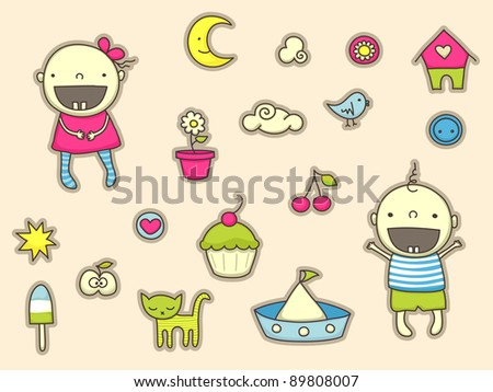 Cute stickers for children