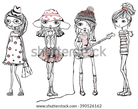 cute stylish girls teenagers