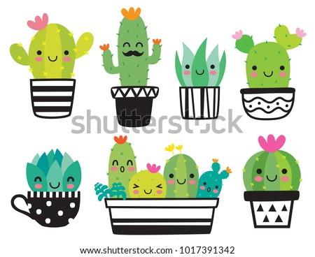 cute succulent or cactus plant...
