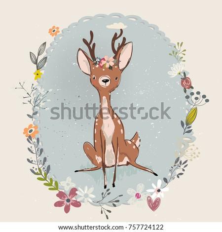cute summer deer