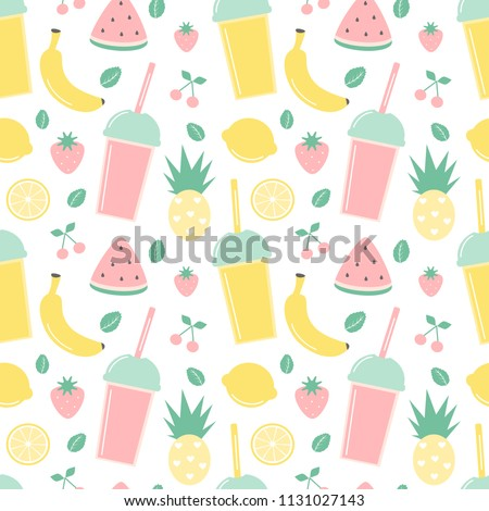 stock-vector-cute-summer-seamless-vector-pattern-background-illustration-with-smoothies-and-fresh-fruits