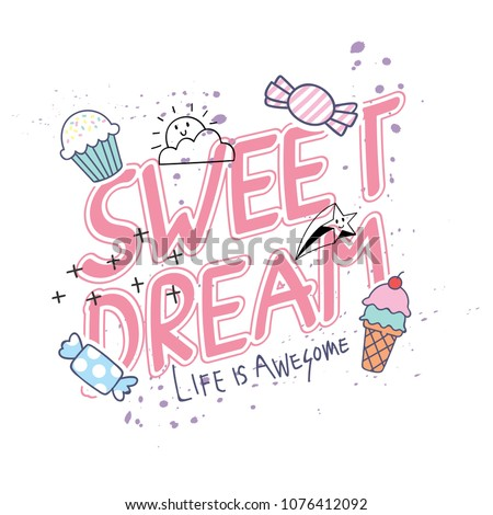stock-vector-cute-t-shirt-design-with-slogan-and-patches