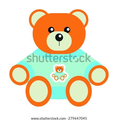 cute teddy bear isolated on