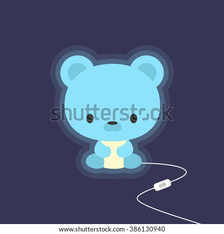 cute teddy bear night light