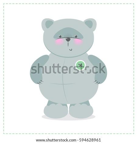 cute teddy bear vector cartoon