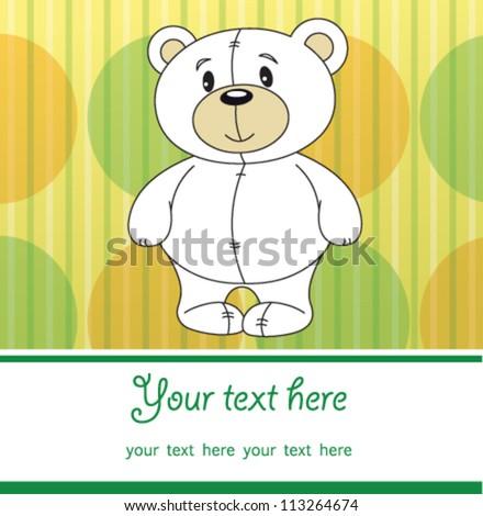 cute teddy bear vector with