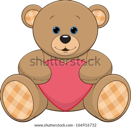 cute teddy bear with a heart