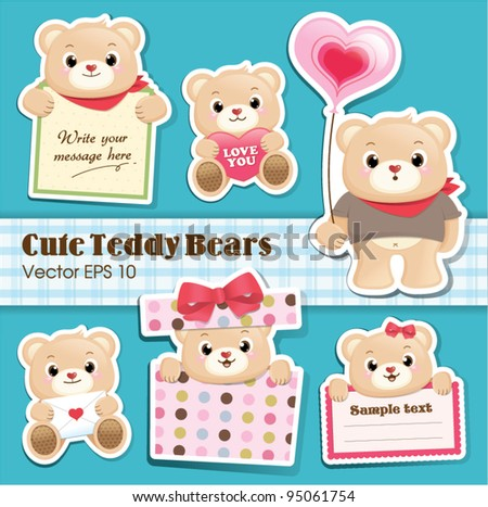 cute teddy bears collection