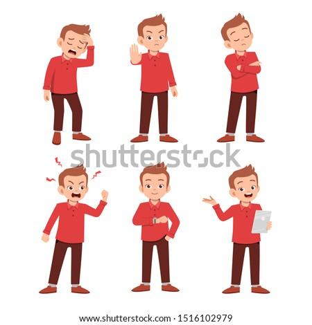 cute teen gesture many expression set bundle