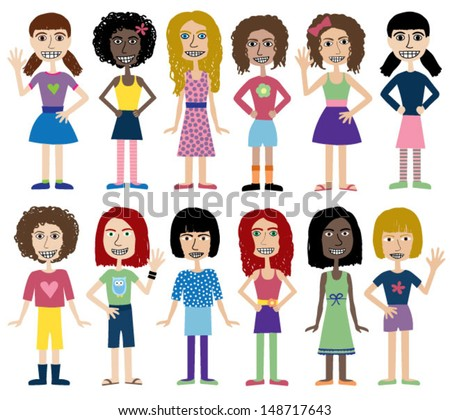vector images illustrations and cliparts cute teenage
