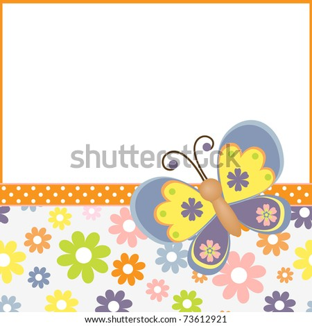 Cute template for Easter spring greetings card (EPS10)