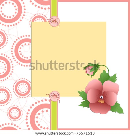 Cute template for Mother's Day greetings card (EPS10)