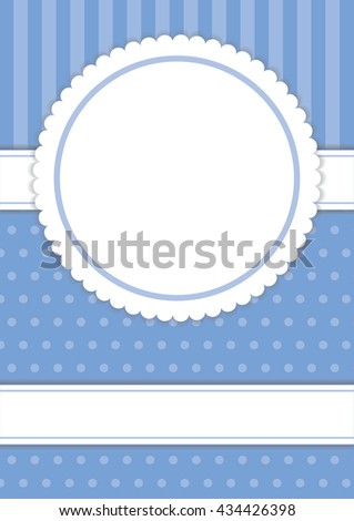 Cute template in pastel lavender color with dot and line background for design your cards, vector