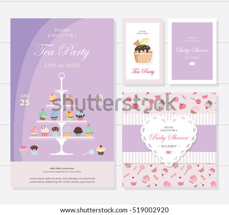 Free Tea Party Invitation Card Download Free Vector Art – Tea Party Invitations Templates Free