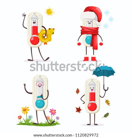 cute thermometer cartoon