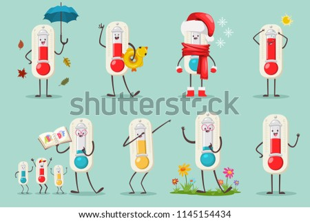 cute thermometer in santa hat