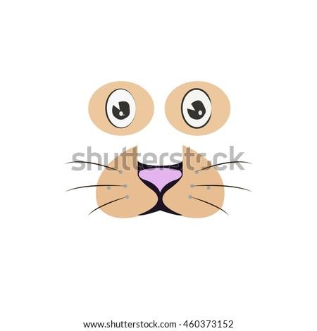 cute tiger cartoon face vector