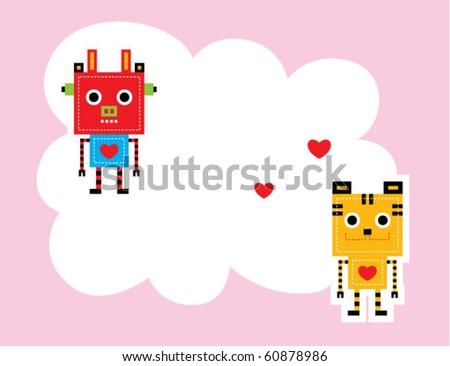 Cute Robot Logo Cute Tiger Robot And Cow Robot