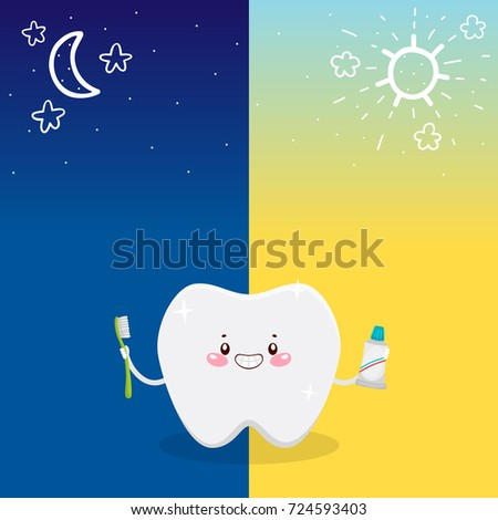 cute tooth and oral dental