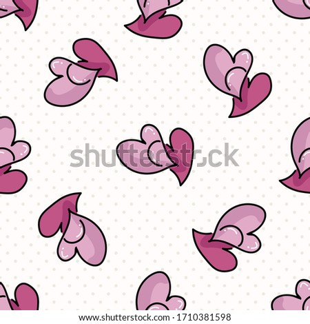 cute two hearts seamless vector