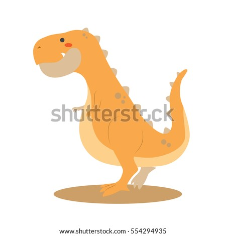 Cute Tyranosaurus Rex dinosaur vector illustration