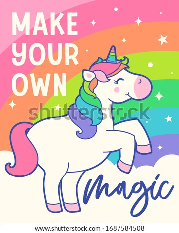 cute unicorn cartoon and
