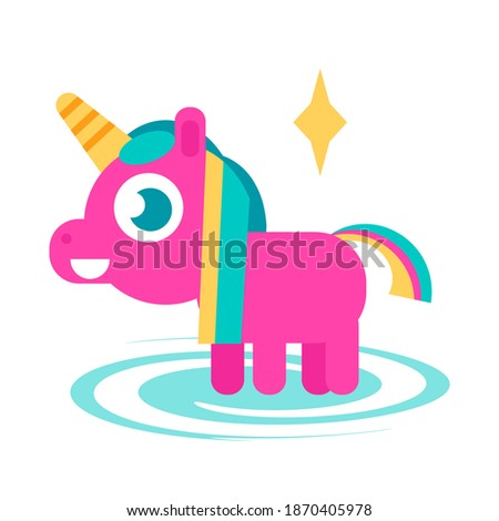 cute unicorn or pink pony