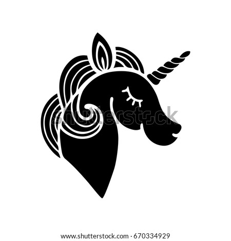 cute unicorn silhouette