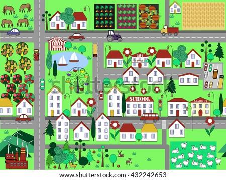 cute urban seamless pattern