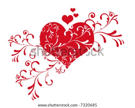 Cute valentine's day heart vector