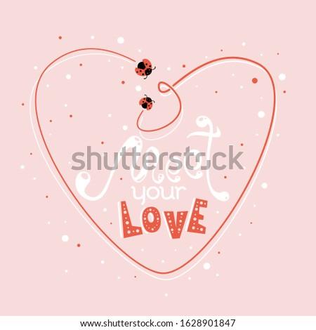 cute valentine's day love print