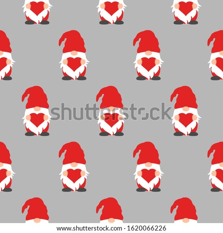 cute valentines gnomes in red