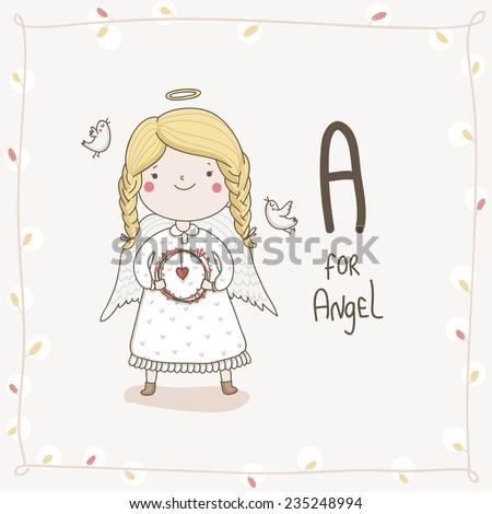 cute vector alphabet hristmas