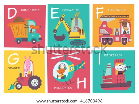 cute vector alphabet with