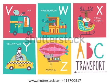 cute vector alphabet with