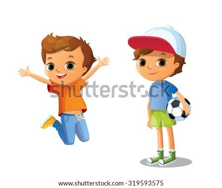 cute vector  boys