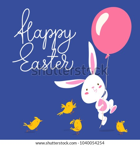 cute vector card with easter